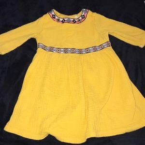 Genuine kids osh kosh yellow toddler dress 5T